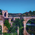 The St. Martin Bridge Over The Tagus River In Toledo by George Westermak