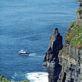 The Stack And The Jack B Cliffs Of Moher Ireland by Teresa Mucha