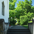 the stairs behind the Gottstatt Monastery church by Michelle Meenawong