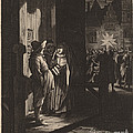 The Star Of Kings, A Night Piece by Jan Van De Velde Ii After Pieter Molijn