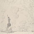 The Statue, New York Bay by Joseph Pennell