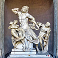 The Statue Of Laocoon And His Sons At The Vatican Museum by Richard Rosenshein