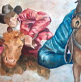 The Steer Wrestler by Charme Curtin