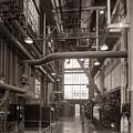 The Stegmaier Brewery Boiler Room Wilkes Barre Pennsylvania 1930's by Arthur Miller