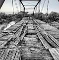 The Steinman Bridge Black And White by JC Findley
