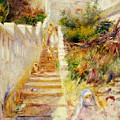 The Steps In Algiers by Pierre Auguste Renoir