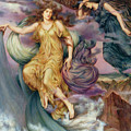 The Storm Spirits-detail-1 by Evelyn De Morgan