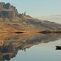 The Storr Reflecting In Loch Fada by Maria Gaellman