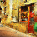 The Street  -- Original Painting by Mia Hansen