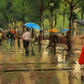 The Streets Of Paris In The Rain by Sergey Lukashin