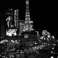 The Strip By Night B-w by Anita Burgermeister
