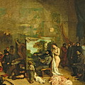 The Studio Of The Painter, A Real Allegory by Gustave Courbet