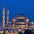 The Sultanahmet Or Blue Mosque At Dusk by Axiom Photographic