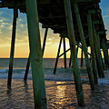 The Sun Also Rises - Crystal Pier, Wrightsville Beach, North Carolina by Sam Antonio Photography