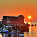 The Sun Rising By Motif Number 1 In Rockport Ma Bearskin Neck by Toby McGuire