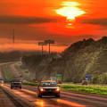 The Sunrise Commute Georgia Interstate 20 Art by Reid Callaway