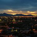 The Sunset From Popago Park Phoenix Arizona Az Golden by Toby McGuire