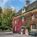 The Swan At Southrop In Autumn by Tim Gainey