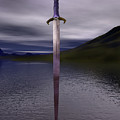 The Sword Excalibur On The Lake by Nicholas Burningham