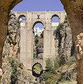 The Tajo De Ronda And Puente Nuevo Bridge Andalucia Spain Europe by Mal Bray