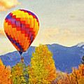 The Taos Mountain Balloon Rally 1 by Digital Photographic Arts