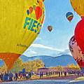 The Taos Mountain Balloon Rally 5 by Digital Photographic Arts