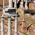 The Temple Of Castor And Pollux At The Forum From The Palatine by Weston Westmoreland