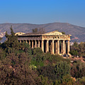 The Temple Of Hephaestus In The Morning, Athens, Greece by Andrey Omelyanchuk