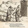 The Temptation Of Christ by Augustin Hirschvogel