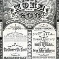 The Ten Commandments 1876 Vintage Poster Restored by Carsten Reisinger