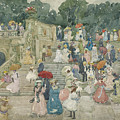 The Terrace Bridge, Central Park by Maurice Brazil Prendergast