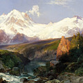The Teton Range, 1897 by Thomas Moran