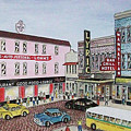 The Theater District Portsmouth Ohio 1948 by Frank Hunter