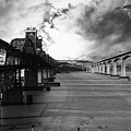 The Three Benicia-martinez Bridges . A Journey Through Time . Black And White by Wingsdomain Art and Photography
