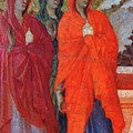 The Three Marys At The Tomb Fragment 1311 by Duccio