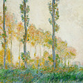 The Three Trees by Claude Monet
