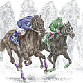 The Thunder Of Hooves - Horse Racing Print Color by Kelli Swan