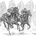 The Thunder Of Hooves - Horse Racing Print by Kelli Swan