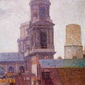 The Towers Saint Sulpice 1887 by DuboisPillet Albert