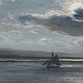 The Traeth Mawr, Moonlight by Henry Moore