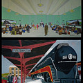 The Train Station At Portsmouth Ohio by Frank Hunter