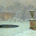 The Trianon Under Snow by Henri Eugene Augustin Le Sidaner