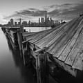 The Twisted Pier Bw by Michael Ver Sprill