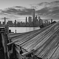 The Twisted Pier Panorama Bw by Michael Ver Sprill