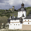 The Two Castles Of Kaub Germany by Teresa Mucha