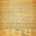 The United States Declaration Of Independence by Wingsdomain Art and Photography