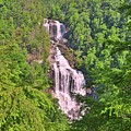 The Upper Whitewater Falls North Carolina Summertime Vertical  by Lisa Wooten