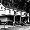 The Valley Green Inn In Black And White by Bill Cannon