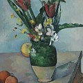 The Vase Of Tulips by Paul Cezanne