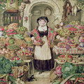 The Vegetable Stall  by Thomas Frank Heaphy